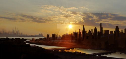 Cityscape Matte Painting by Cmr8286