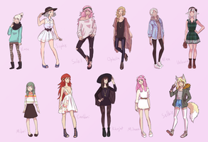daughters and fashion by MustacheElm