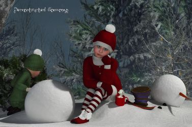 Deconstructed Snowman by Dani3D