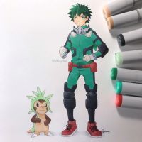 Deku and Chespin by WolfJayden