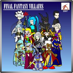 Final Fantasy Villains by Delta-Kaoz