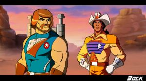 Rio Blast and Bravestarr by MikeBock