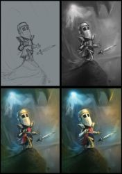 The Knight - process by jsuursoo