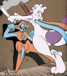 Deoxys vs Mewtwo by Gale-Kun