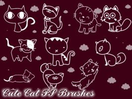 Cute Cat Photoshop Brushes by petermarge