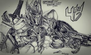 Optimus Prime age of extinction by DSPA360