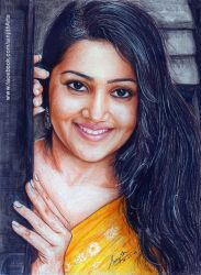 Samskruthy Shenoy -  Colored Pencil drawing by sinjith