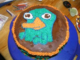 Perry the Playpus cake by angelleelee13
