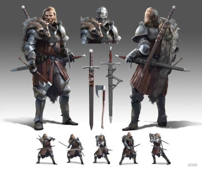 Knight Character Design by conorburkeart