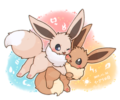 2017 eevee day by wolfwithwing99