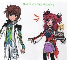 Cake for you, Asbel by sweet-suzume