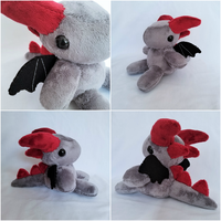 Dragon Plushie by Skellytone