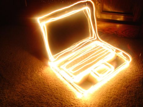 Painting with Light - Laptop by neon280