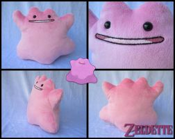 Ditto Plush - Pokemon by Maz-Zeldette