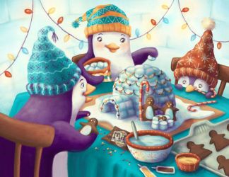 Penguin Family's Igloo Nativity by Isynia-Artessa