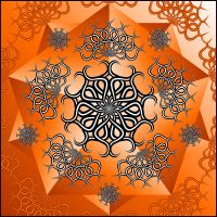 Orange Pentacle by parrotdolphin