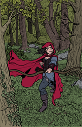 Red Riding Robin Hood lines +colored+ by aneolus