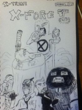 X-treme X-force Chew homage variant cover. by RoninReviews3