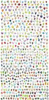 All 718 pokemon !