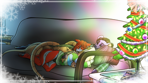 Christmas cuddles by AlexDealey