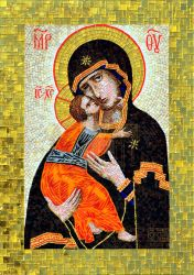 Icon 'Holy Mother' in glass mosaic (full size) by Artmoment-Rus