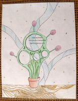 Goofy Cactus - Haiku Letter Drawing by Kyle-Lefort