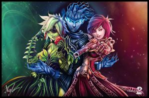 Edax, Lynnelle, and Maelene by KaizerChang