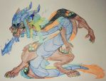 /Blue flare dragon/ by Winelys-11
