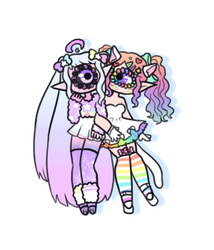[ pastel stars and rainbow decora ] by hello-planet-chan