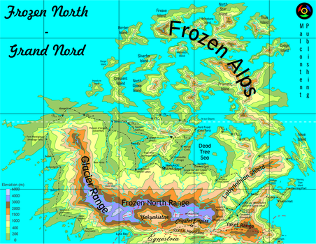 Topographic Map of The Frozen North (Movie Ed.) by Kyoshyu