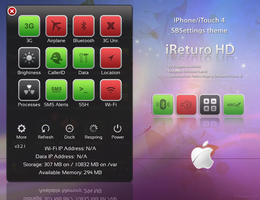 iReturo HD - SBSettings Theme by piimoussse