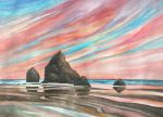 Cannon Beach Sunset by Kyla-Nichole