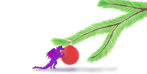 Christmas Dragon by MareleLup