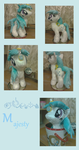 Pony Plush   G1 pony - Majesty by fameng