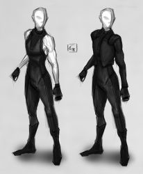 Sketch - Nostromo's outfit 2.0 by Rom1-123