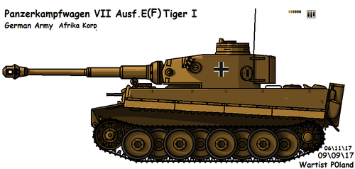 Panzerkampfwagen VI Ausf. E (F) Tiger I (Early) by P0landWW2