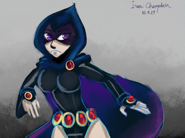 Day 36: Raven Colorsketch by IsaacChamplain