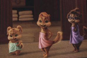 AATC- Chipwrecked: Chipettes in Towels by Iamtherainbow26