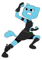 2D Nicole Combat Position (transparent)- TAWoG NG by TAWoGFan2000