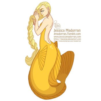 MerMay Day 20 - Yellow Tang Mermaid :) by MeoMai