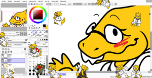 Itty Bitty Alphys shimeji//DOWNLOAD by EmberCL