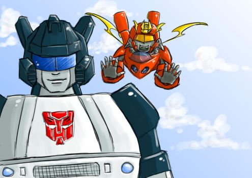 Transformers Art Trade by MsLilly