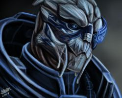 Garrus painting by aprilelvidge