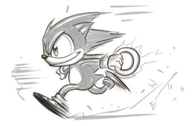Run Sonic Run - DRS Warmup by EryckWebbGraphics