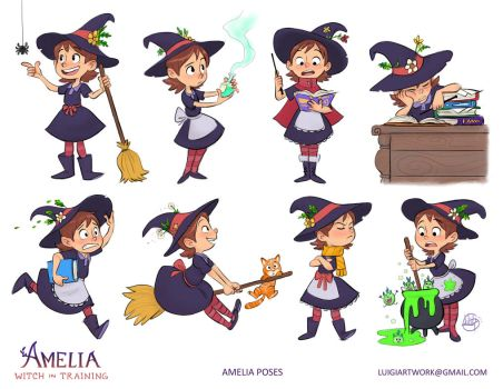 Amelia - Witch in Training by LuigiL