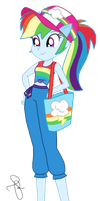EQG Series - Rainbow Dash in resort wearing by ilaria122