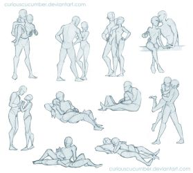 Pose Studies 2 by CuriousCucumber