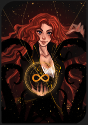Commission :Tarot Card The Magician by AlexielApril