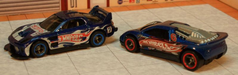 Team Hot Wheels 24/7 (Mazda RX7) + Speed Blaster by thesickishorc