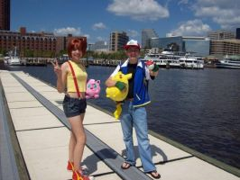 Ash and Misty Costumes by CharmandersFlame